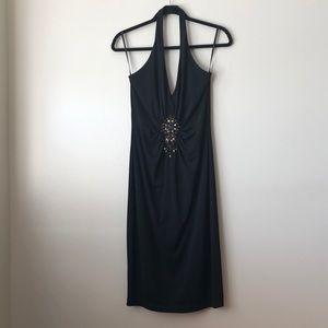 NEW David Meister- size 4 halter cocktail dress